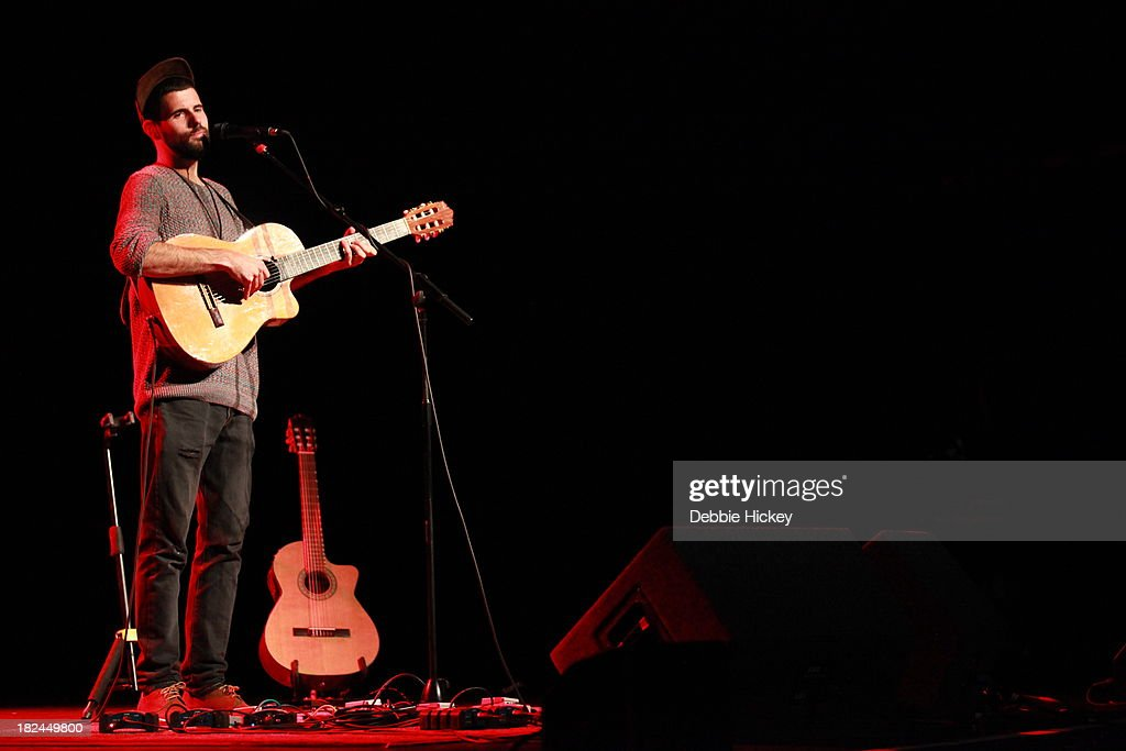 Nick Mulvey performs as support to Laura Marling at The Olympia on September 29, 2013 in Dublin, Ireland.