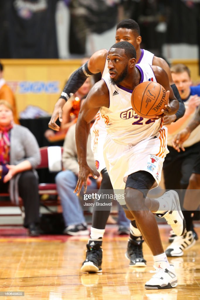 Nick Murphy #22 of the Iowa Energy handles the ball against the Springfield Armor in an NBA D-League game on February 2, 2013 at the Wells Fargo Arena in Des Moines, Iowa.