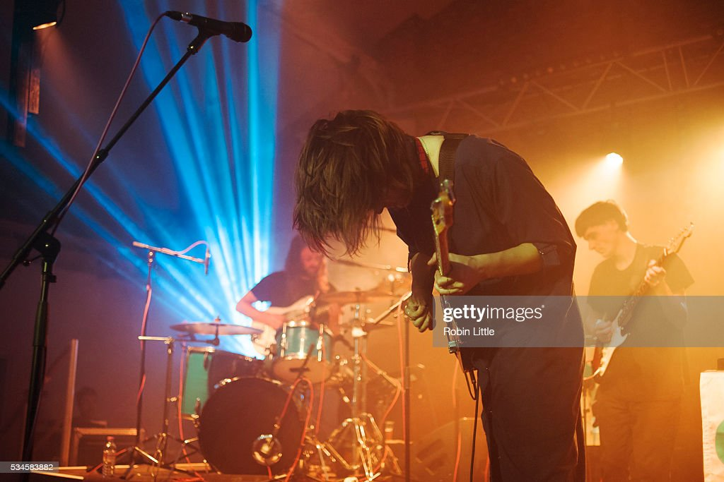 Nick Murray, Cate Le Bon and John Thomas perform at Oval Space on May 26, 2016 in London, England.