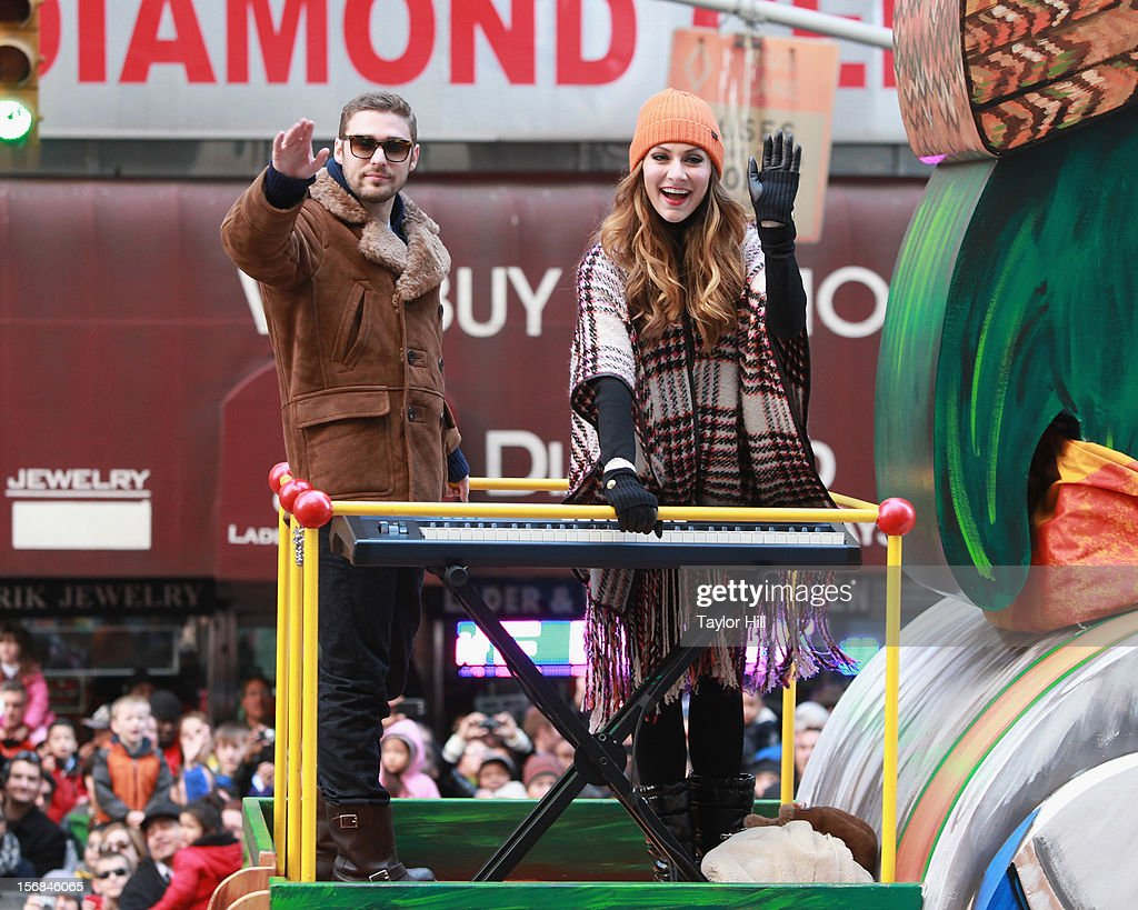 Nick Noonan and Amy Heidemann of Karmin attend the 86th Annual Macy's Thanksgiving Day Parade on November 22, 2012 in New York City.