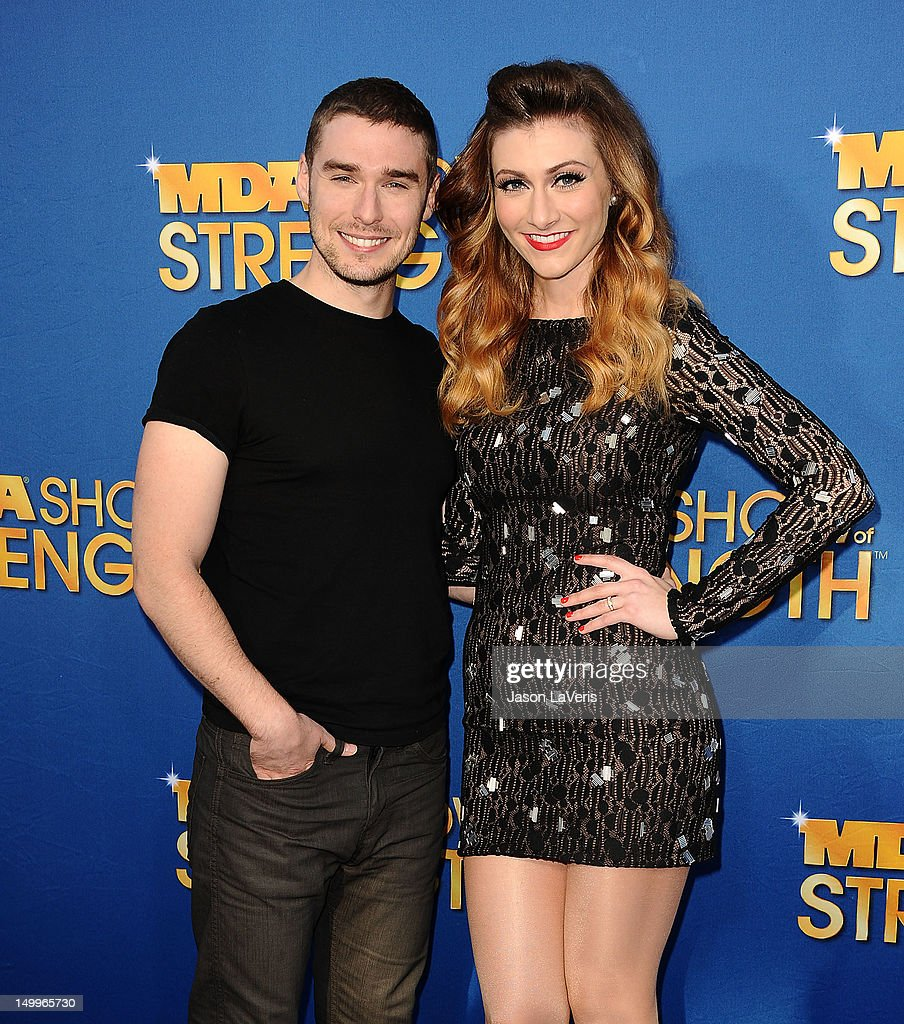 Nick Noonan and Amy Heidemann of Karmin attend the MDA Labor Day Telethon at CBS Studios on August 7, 2012 in Los Angeles, California.