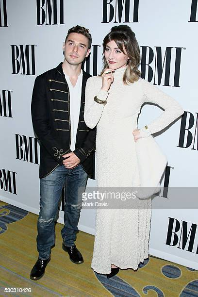 Nick Noonan and Amy Noonan of Karmin attend the 64th Annual BMI Pop Awards held at the Beverly Wilshire Four Seasons Hotel on May 10 2016 in Beverly...