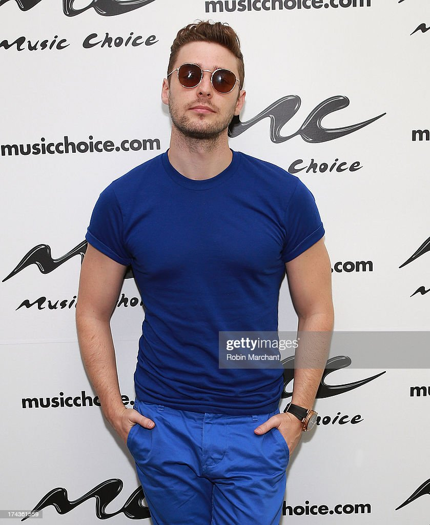 Nick Noonan of Karmin visits at Music Choice on July 24, 2013 in New York City.