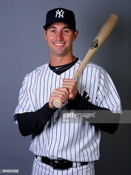 Nick Noonan of the New York Yankees poses for a portrait on February 27 2015 at George M Steinbrenner Stadium in TampaFlorida