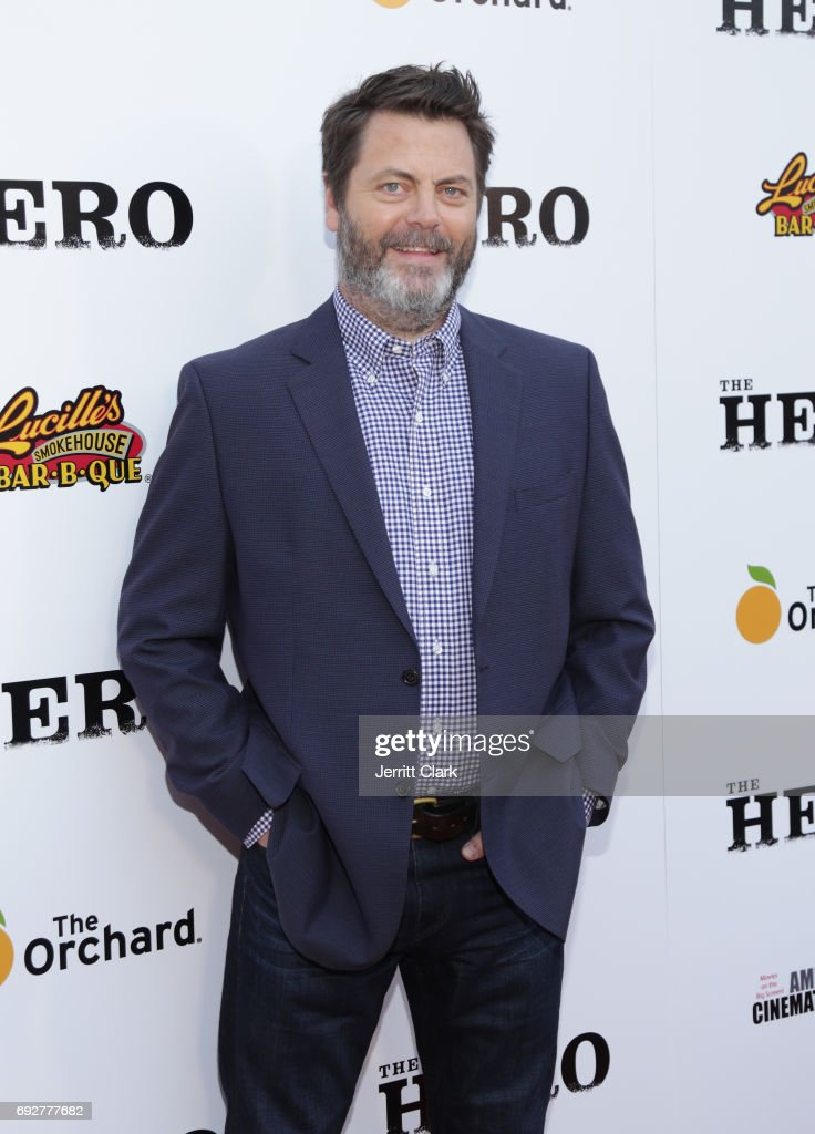 Nick Offerman attends the Premiere Of The Orchard's 'The Hero' at the Egyptian Theatre on June 5, 2017 in Hollywood, California.