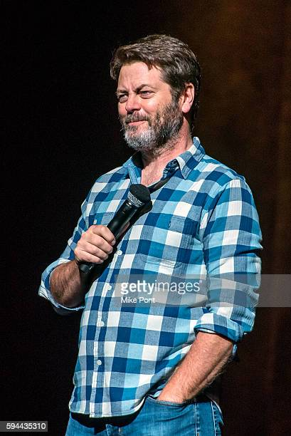 Nick Offerman performs during the 'Summer Of 69 No Apostrophe' tour at Beacon Theatre on August 23 2016 in New York City