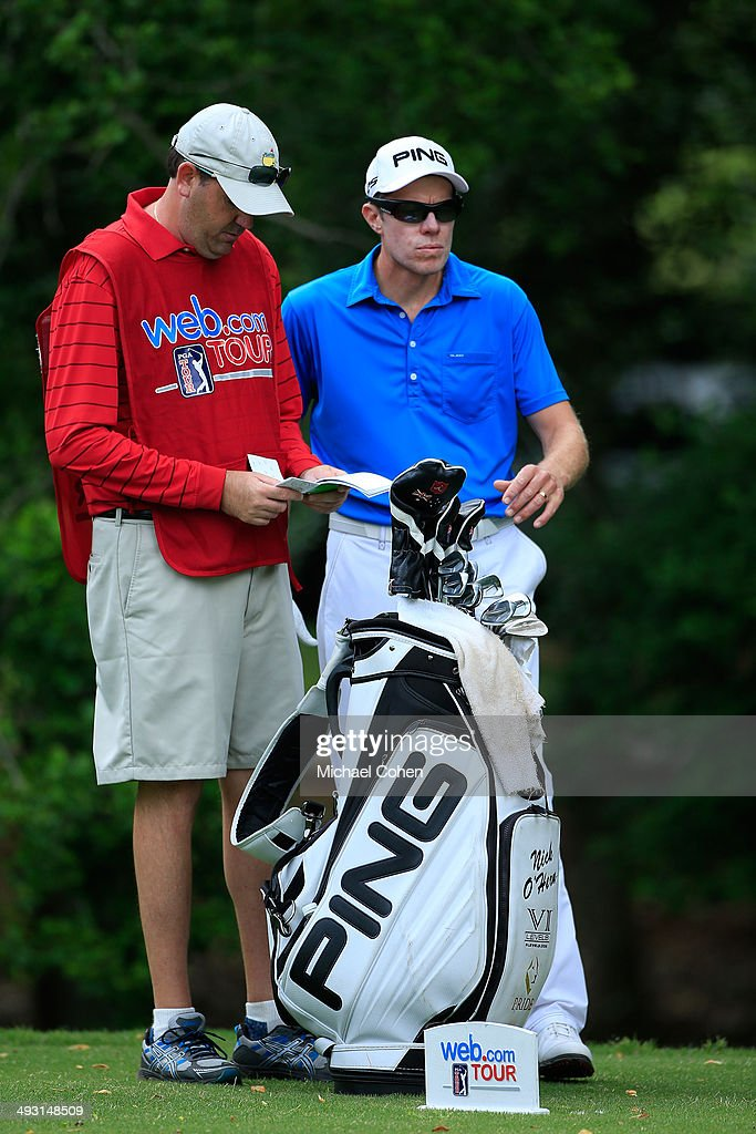 Nick O'Hern of Australia looks on during the second round of the BMW Charity ProAm Presented by SYNNEX Corporation held at the Thornblade Club on May...