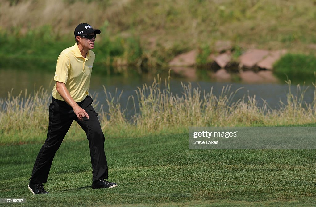 Nick O'Hern walks up to the green on the 8th hole during the second round of the Cox Classic Presented by Lexus of Omaha at Champions Run on August...