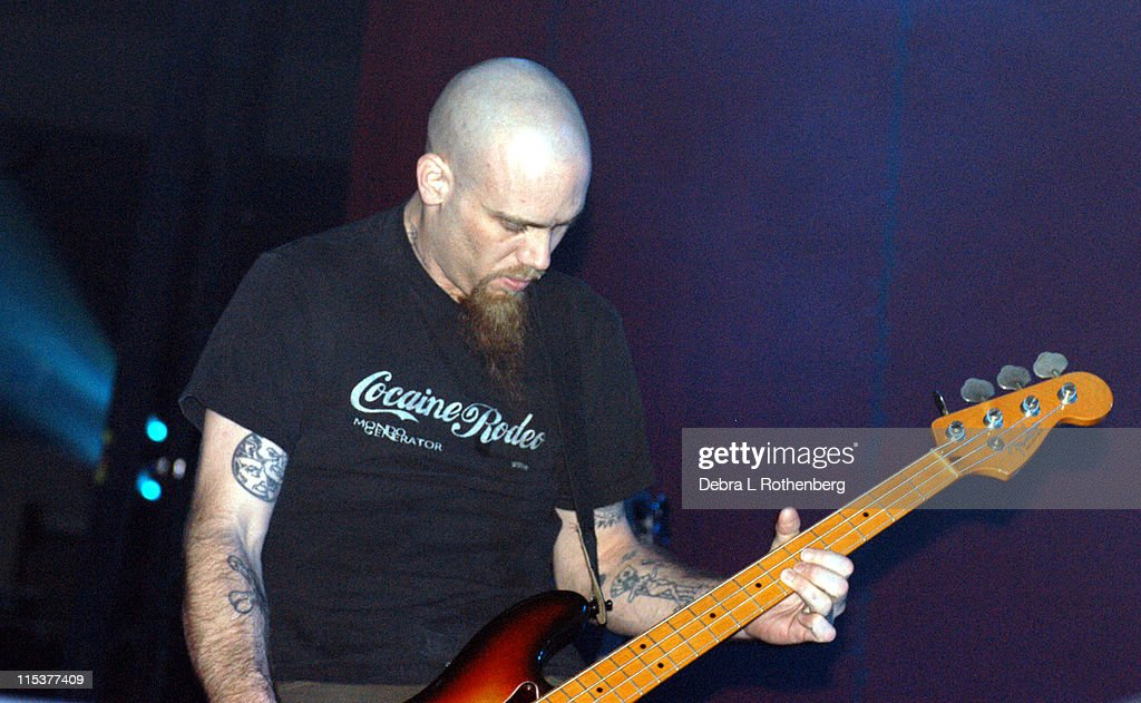 Nick Oliveri of Queens of the Stone Age during K Rock Klaus Fest at Nassau Coliseum in Long Island, NY, United States.