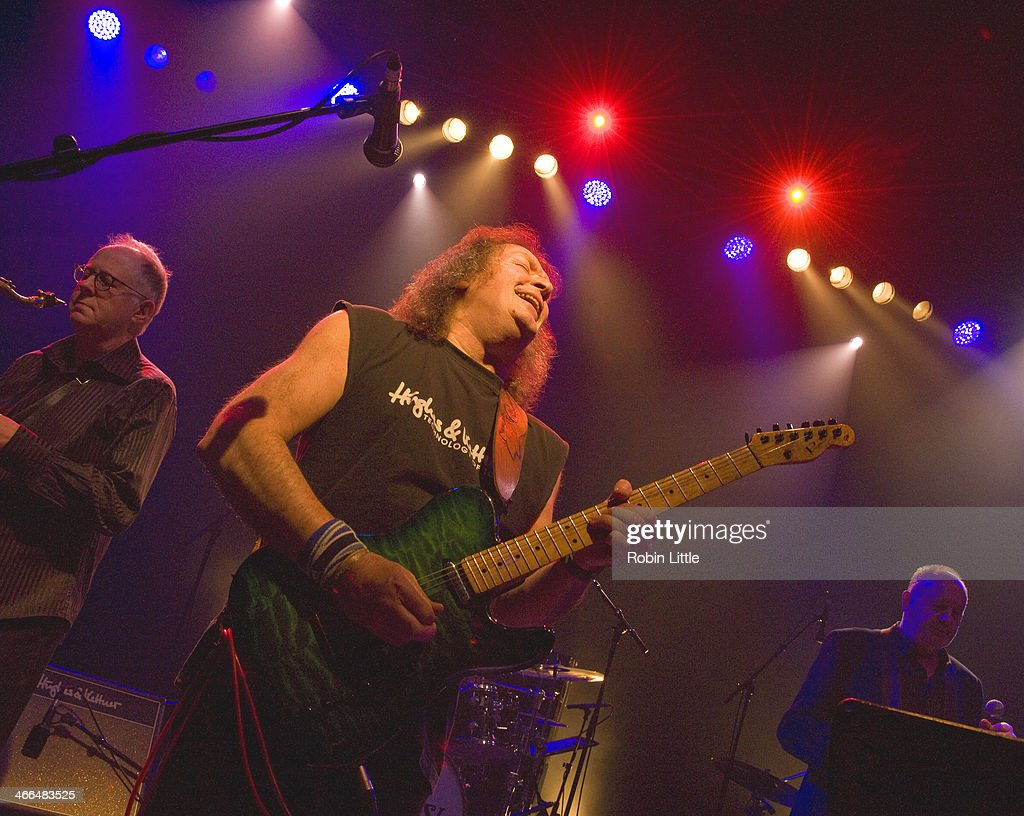 Nick Payn, Geoff Whitehorn and Roger Chapman of Family perform on stage at Shepherds Bush Empire on February 1, 2014 in London, United Kingdom.