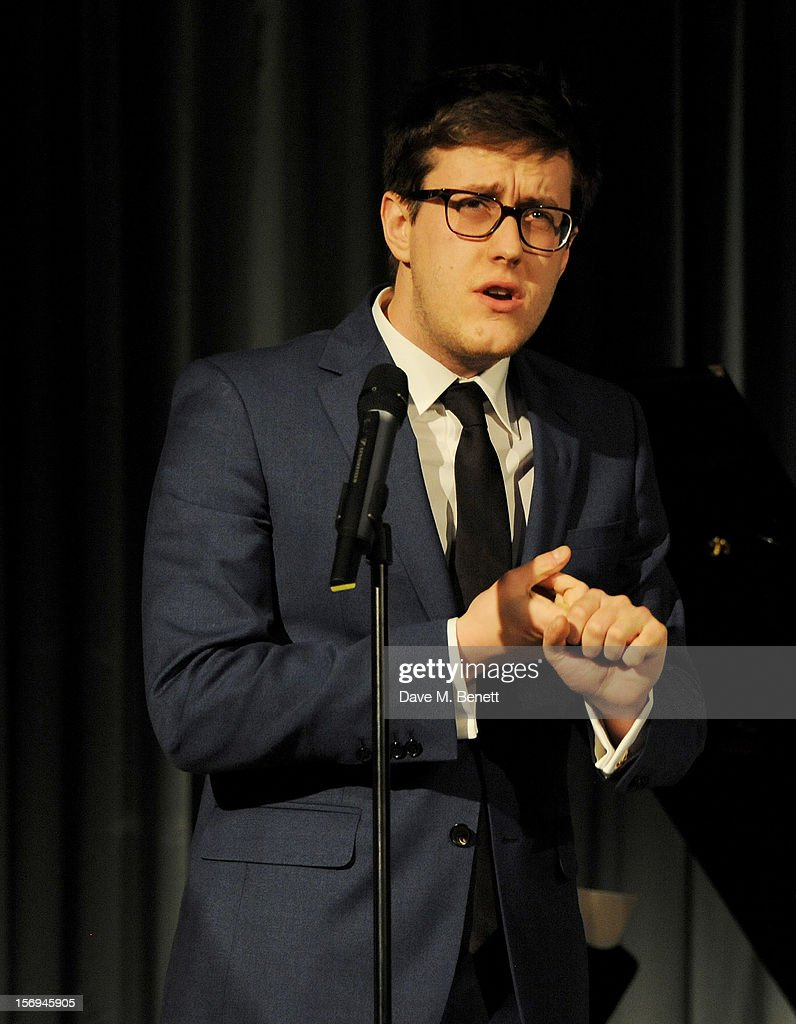 Nick Payne accept the award for Best Play for 'Constellations' at the 58th London Evening Standard Theatre Awards in association with Burberry at The Savoy Hotel on November 25, 2012 in London, England.