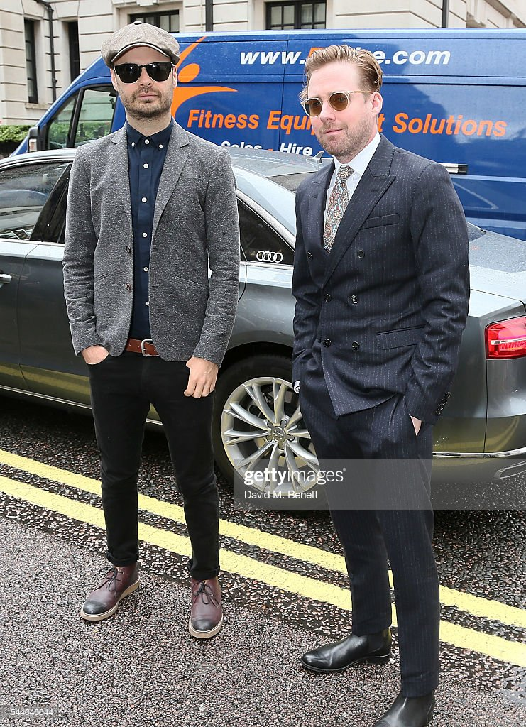 Nick 'Peanut' Baines and <a gi-track='captionPersonalityLinkClicked' href=/galleries/search?phrase=Ricky+Wilson&family=editorial&specificpeople=206907 ng-click='$event.stopPropagation()'>Ricky Wilson</a> arrive at the Nordoff Robbins O2 Silver Clef Awards at The Grosvenor House Hotel on July 1, 2016 in London, England.