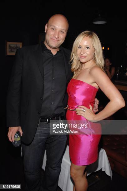 Nick Pepper Tamsin Lonsdale attend The Supper Club Shepard Fairey's SNO host a Bombay Sapphire Tea Party at The Tea Room on July 20 2010 in Hollywood...