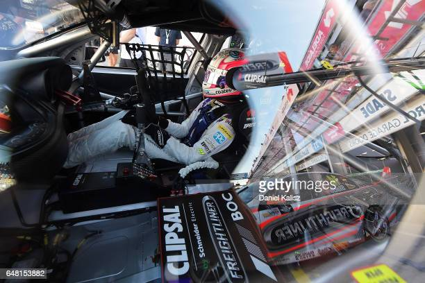 Nick Percat driver of the Team Clipsal Brad Jones Racing Commodore VF during qualifying for race 2 of the Clipsal 500 which is part of the Supercars...