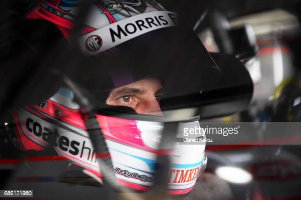 Nick Percat driver of the Team Clipsal Brad Jones Racing Commodore VF during qualifying for race 10 for the Winton SuperSprint which is part of the...