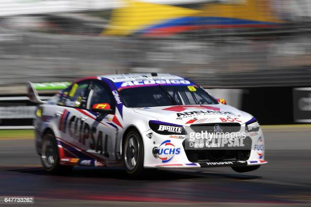 Nick Percat drives the Team Clipsal Brad Jones Racing Commodore VF during race 1 for the Clipsal 500 which is part of the Supercars Championship at...
