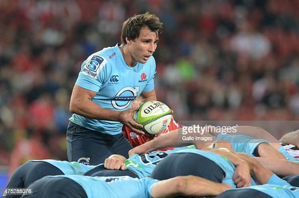 Nick Phipps of the Waratahs during the Super Rugby match between Emirates Lions and Waratahs at Emirates Airline Park on May 30 2015 in Johannesburg...