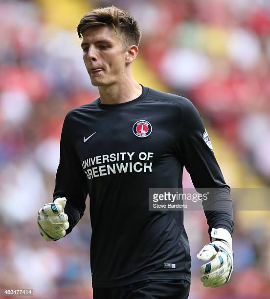 Nick Pope of Charlton Athletic during the Sky Bet Championship match between Charlton Athletic v Queens Park Rangers at The Valley on August 8 2015...