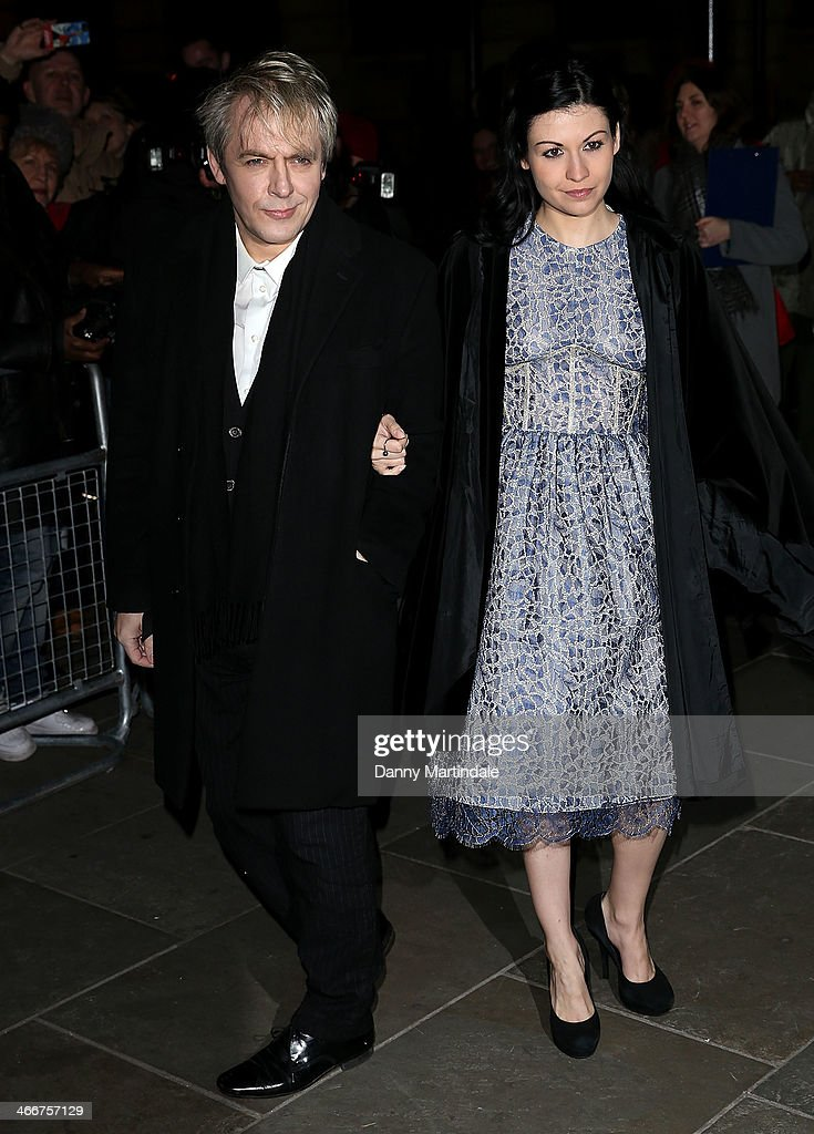Nick Rhodes and girlfriend Nefer Suvio attend the VIP private view of David Bailey Bailey's Stardust at National Portrait Gallery on February 3 2014...