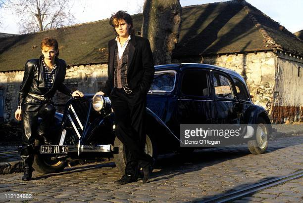 Nick Rhodes and John Taylor of Duran Duran in Paris 1984