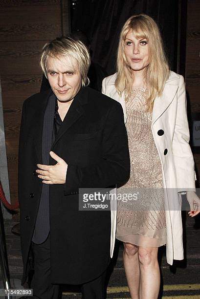 Nick Rhodes and Meredith Ostrom during 'Derailed' London Premiere After Party at Umu Restaurant in London Great Britain