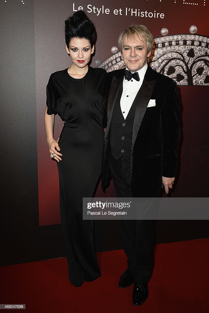 <a gi-track='captionPersonalityLinkClicked' href=/galleries/search?phrase=Nick+Rhodes&family=editorial&specificpeople=206732 ng-click='$event.stopPropagation()'>Nick Rhodes</a> (R) and Nefer Suvio arrive at the 'Cartier: Le Style et L'Histoire' Exhibition Private Opening at Le Grand Palais on December 2, 2013 in Paris, France.
