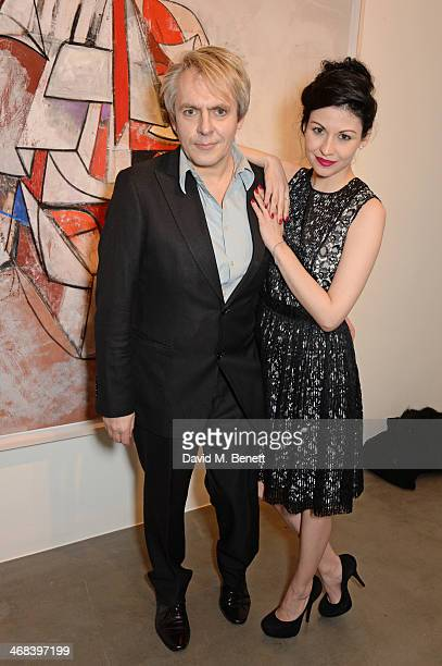 Nick Rhodes and Nefer Suvio attend the opening reception at Simon Lee Gallery for an exhibition of new paintings by renowned American artist George...