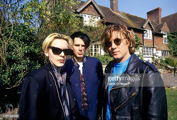 Nick Rhodes John Taylor and Simon le Bon of Duran Duran during UK rehearsals 1988