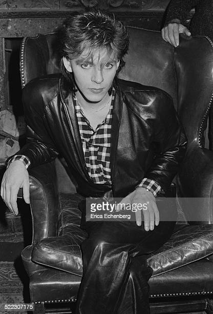 Nick Rhodes of Duran Duran at a press call in a London hotel November 1983