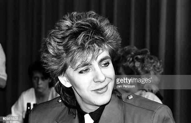 Nick Rhodes of Duran Duran at a press conference in 1984 in Copenhagen Denmark