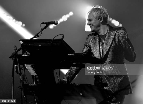 Nick Rhodes of Duran Duran performs on stage at Hard Rock Live at Seminole Hard Rock Hotel Casino Hollywood on April 5 2017 in Hollywood Florida