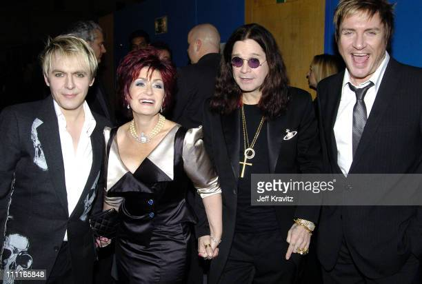 Nick Rhodes Sharon Osbourne Ozzy Osbourne and Simon Le Bon of Duran Duran