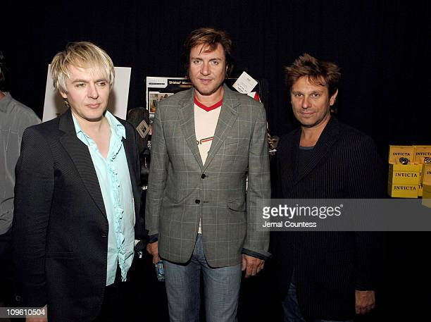Nick Rhodes Simon Le Bon and Roger Taylor of Duran Duran