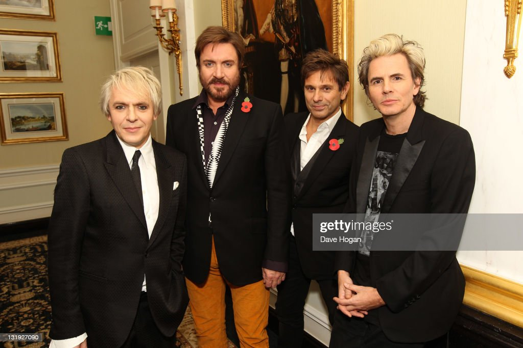 Nick Rhodes, Simon Le Bon, Roger Taylor and John Taylor of Duran Duran attend the video launch of Duran Duran 'Girl Panic!' at The Savoy Hotel on November 8, 2011 in London, United Kingdom.