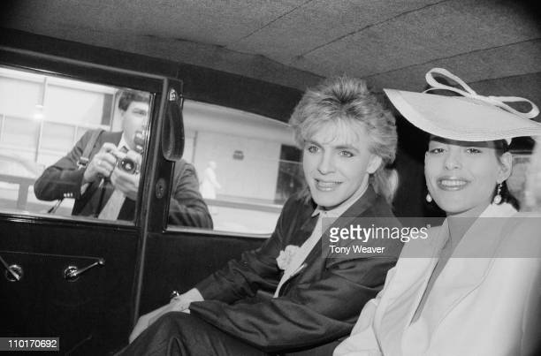 Nick Rhodes the keyboard player for pop group Duran Duran marries heiress Julie Anne Friedman in London 18th August 1984