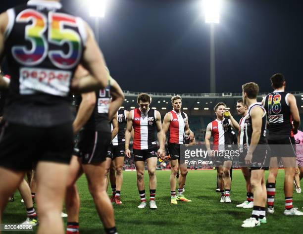 Nick Riewoldt of the Saints leaves the ground after the round 18 AFL match between the Sydney Swans and the St Kilda Saints at Sydney Cricket Ground...