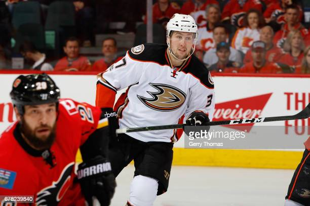 Nick Ritchie of the Anaheim Ducks skates against the Calgary Flames during Game One of the Western Conference First Round during the 2017 NHL Stanley...