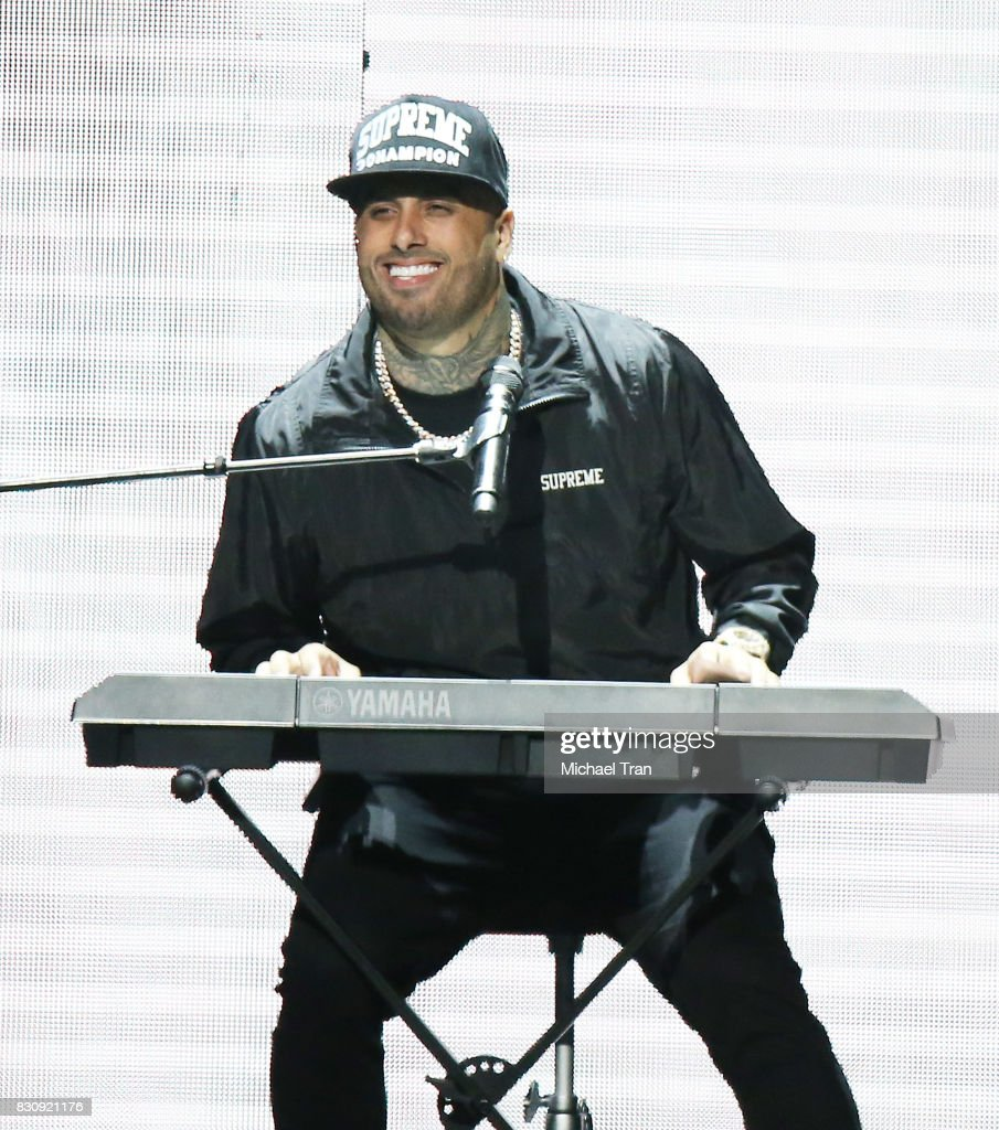 Nick Rivera Caminero aka Nicky Jam performs onstage during the 2017 El Ganador US Tour held at Microsoft Theater on August 12, 2017 in Los Angeles, California.
