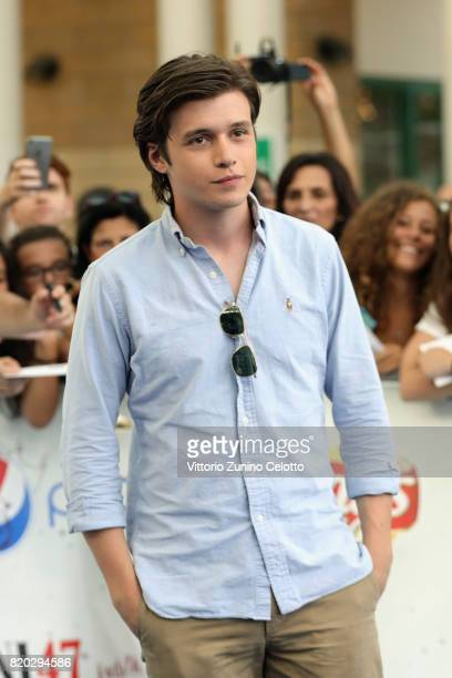Nick Robinson attends Giffoni Film Festival 2017 blue carpet on July 21 2017 in Giffoni Valle Piana Italy