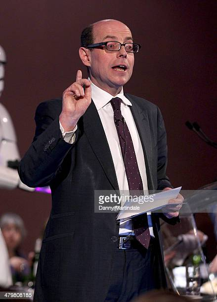 Nick Robinson hosts the annual Ultimate News Quiz at the London Film Museum on March 20 2014 in London England