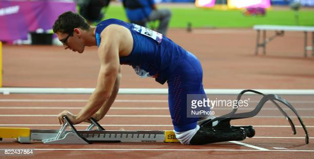 Nick Rogers of USA compete Men's 400m T43 Final during World Para Athletics Championships Day Three at London Stadium in London on July 17 2017