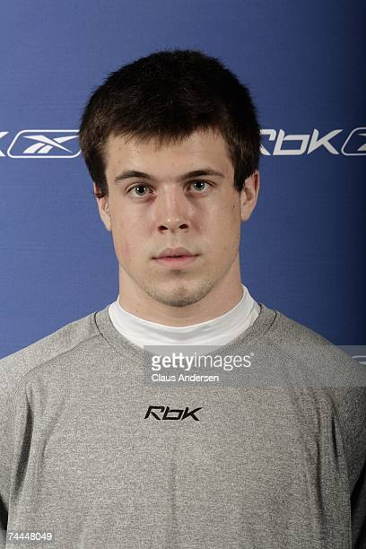 Nick Ross poses for a portrait during the 2007 NHL Combine on June 1 2007 at the Park Plaza Hotel in Toronto Canada
