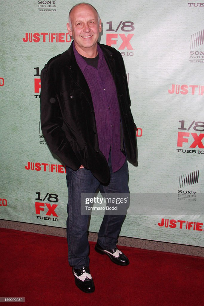 Nick Searcy attends the FX's 'Justified' season 4 premiere held at Paramount Theater on the Paramount Studios lot on January 5, 2013 in Hollywood, California.