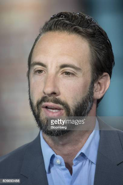 Nick Shapiro head of global trust and risk management at Airbnb Inc speaks during a Bloomberg Technology interview in San Francisco California US on...