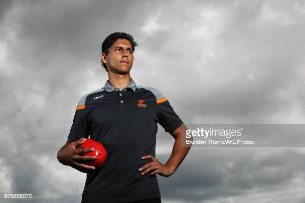 Nick Shipley poses during an AFL media opportunity ahead of the 2017 AFL Draft and AFL 9s at Queens Park on November 21 2017 in Sydney Australia