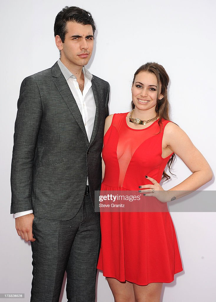 Nick Simmons and Sophie Simmons arrives at the 'RED 2' - Los Angeles Premiere at Westwood Village on July 11, 2013 in Los Angeles, California.