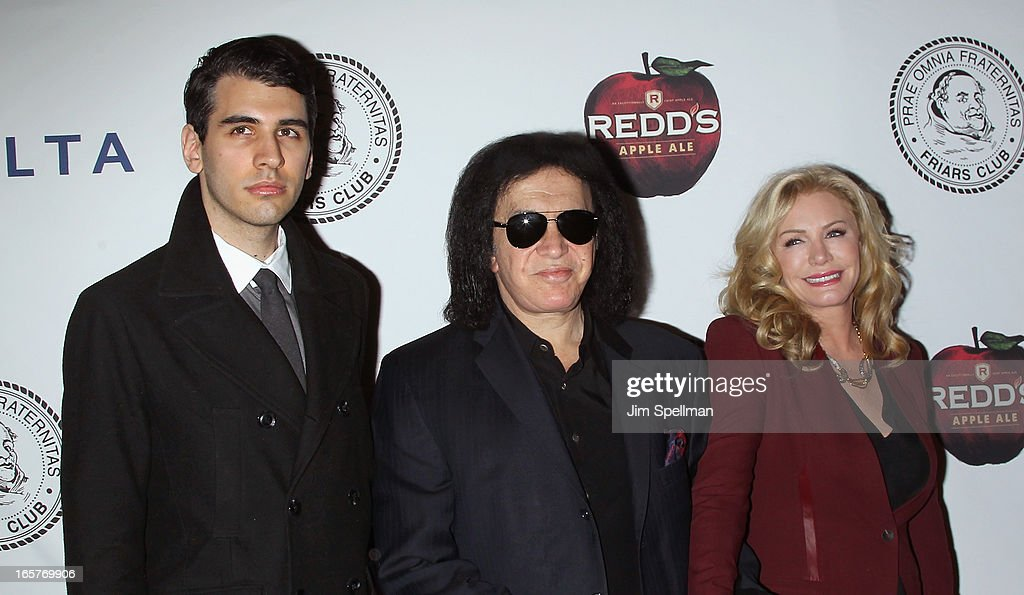 <a gi-track='captionPersonalityLinkClicked' href=/galleries/search?phrase=Nick+Simmons&family=editorial&specificpeople=650232 ng-click='$event.stopPropagation()'>Nick Simmons</a>, musician <a gi-track='captionPersonalityLinkClicked' href=/galleries/search?phrase=Gene+Simmons&family=editorial&specificpeople=138593 ng-click='$event.stopPropagation()'>Gene Simmons</a> and <a gi-track='captionPersonalityLinkClicked' href=/galleries/search?phrase=Shannon+Tweed&family=editorial&specificpeople=226528 ng-click='$event.stopPropagation()'>Shannon Tweed</a> attends The Friars Club Roast Honors Jack Black at New York Hilton and Towers on April 5, 2013 in New York City.