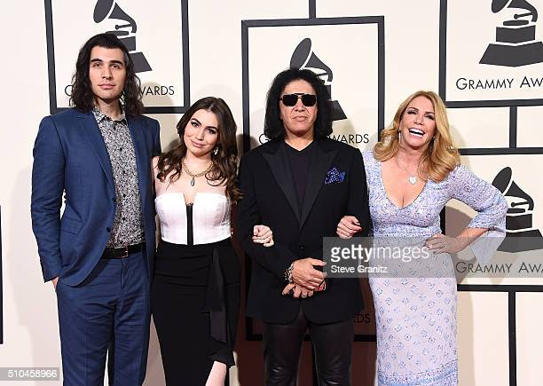 Nick Simmons Sophie Simmons musician Gene Simmons and actress Shannon Tweed attendThe 58th GRAMMY Awards at Staples Center on February 15 2016 in Los...