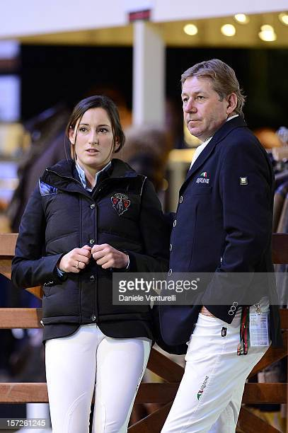 Nick Skelton and Jessica Springsteen attend the Gucci Paris Masters 2012 at Paris Nord Villepinte on December 1 2012 in Paris France