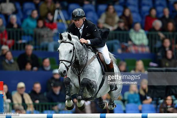 Nick Skelton of Great Britain and Carlo compete in the MercedesBenz Championat of Hamburg during day one of the German Jumping Dressage Grand Prix...